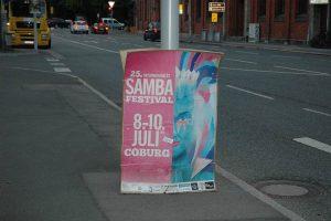 20-jähriges Coburger-Bühnenjubiläum zum 25. Sambafestival in Coburg: Samba Tuque Brasil um Bandleader Osmar Oliveira. Fotos: Matthias Hertlein