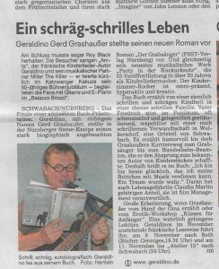 Schwabacher Tagblatt vom 6. Oktober 2016 - Geraldino---