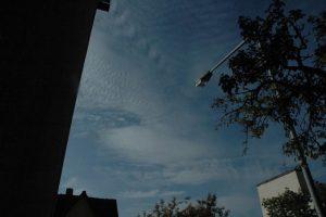 Wetterumschwung kündigte sich am 1.Oktober morgens gegen 8 Uhr amHimmel an. Fotos: Hertlein