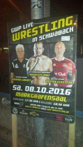 Wrestling-Show mit Ex-Sport-Promis am 8.10. im Markgrafensaal. FotoHertlein
