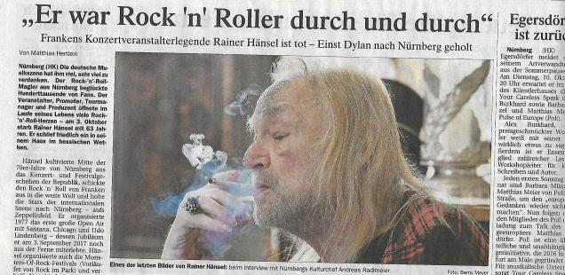 Franken-Szene: Hänsel-Tod & Heinl-Finissage & Fee-CD & Hennig liest & FCN-Müller
