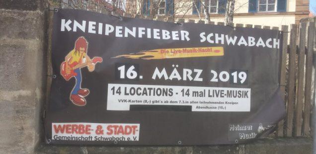 Schwabach-Boulevard: 16.März - Eine Stadt im Kneipenfieber/15 Locations, 15 Bands, 1000fach Spaß