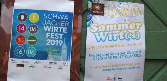 """Schwabach-Boulevard: Tafelkonzerte gehen """"fremd""""/Grünen-Göll verzichtet auf OB-Kandidatur/Wirtefest/Soul-Brother Mike D./Muddy What? am Freitag in Kammerstein"""