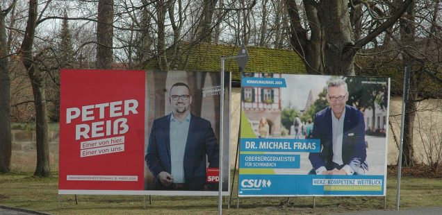 Schwabach-Boulevard: OB-Stichwahl schon entschieden? Die Grünen sind für SPD-Mann, Malys flammender Appell für Peter Reiß.....